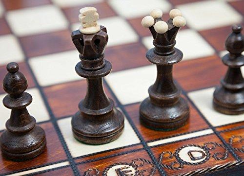 Schach Schachspiel DA Vinci 42 x 42 cm mit Gravurarbeiten