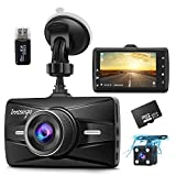 Dash Cam Front and Rear 1080P FHD with 32G SD Card Included Car