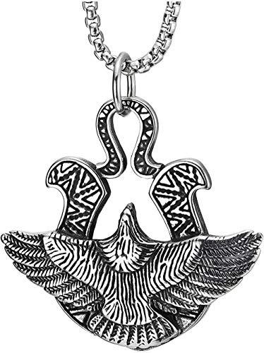 NC198 Collar con Colgante de Paloma de la Paz Vintage con Tatuaje Tribal gráfico clásico Collar Vintage
