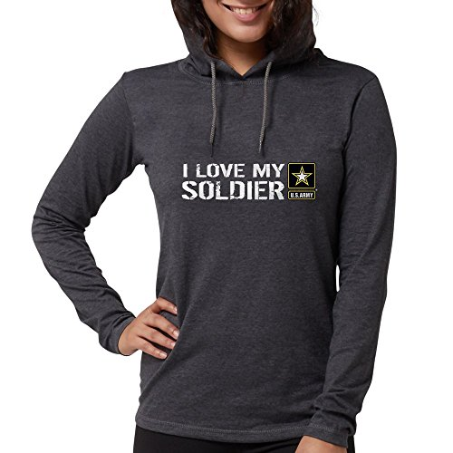 CafePress U.S. Army: I Love My Soldier Womens Hooded Shirt Heather Gray