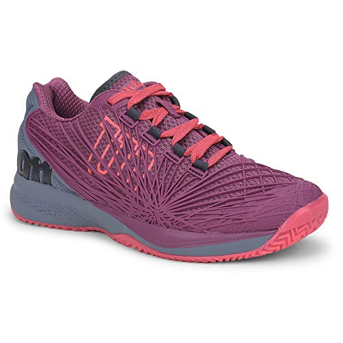 Wilson KAOS 2.0 Tennis Shoes Women, Plum/Flint Stone/Neon...
