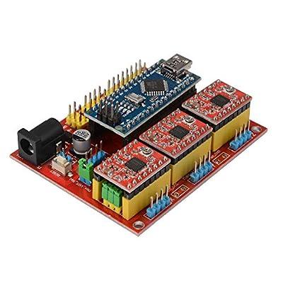 SODIAL CNC Shield V4 Expansion Board Nano 3.0 Stepper A4988 Driver for Arduino 3D Printer TE732