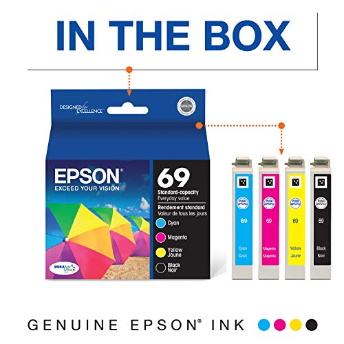 EPSON T069 DURABrite Ultra Ink Standard Capacity Black & Color Cartridge Combo Pack (T069120-BCS) for select Epson Stylus and WorkForce Printers Photo #7