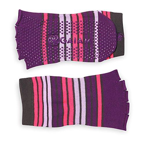 Gaiam - Yoga-Socken für Herren in pink / violett, Größe S-M