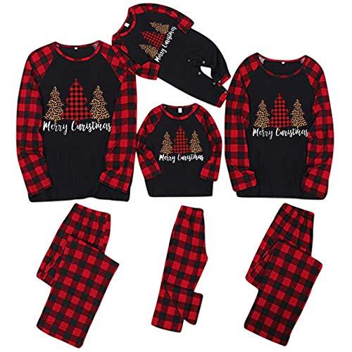 Sonnena N-Q7 Pijamas Familiares Conjuntos Navideños Mujeres Hombres Niños Dormir Otoño Invierno...