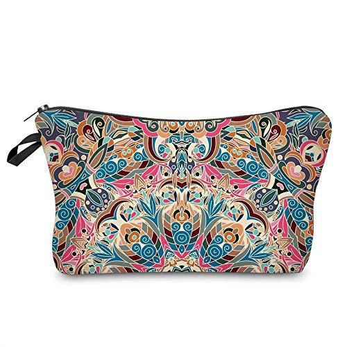 LZZ Impression de Couleur Mandala Fleur Sac cosmétique Mode élégant Sac de Rangement Voyage Dame Sac cosmétique