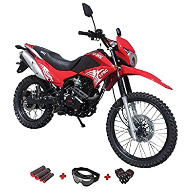 X-Pro Hawk 250 Dirt Bike Motorcycle Bike Dirt Bike Enduro Street Bike Motorcycle Bike,Red