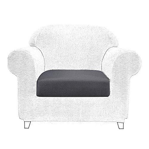 Littleduck Sofa Cushion Covers 1 Seater Elastic Sofa Seat Cushion Covers Couch Slipcover Stretch Sofa Cover Furniture Pet Protector Dark Grey