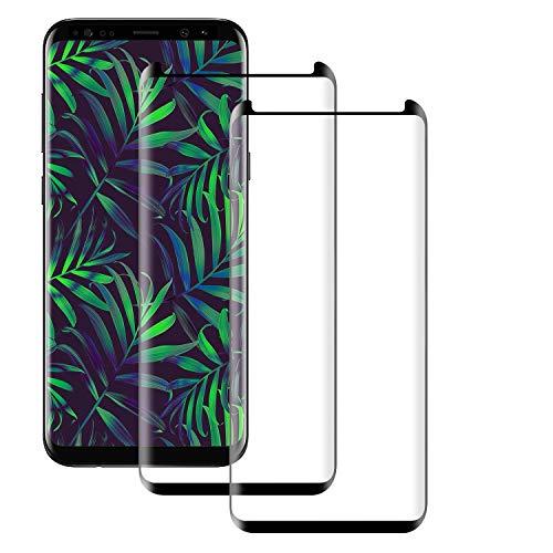PUUDUU Verre Trempé pour Samsung S8 Plus, [2 pièces] 3D Incurvé Couverture Complète Dureté 9H, Anti Rayures, sans Bulles, Film Protecteur en Verre trempé de Haute Qualité pour Samsung S8 Plus