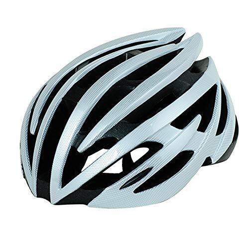lhmlyl Abus Fahrradhelm Kinder Herren Damen Erwachsene Downhill Radhelm 54-60cm MTB Rennrad Mountainbike Fahrrad-weiß Silber