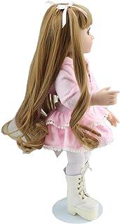 Scienish 18 Inch Handmade Baby Girl Gift Doll Silicone Newborn Dolls Realistic Cotton Body