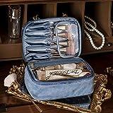 Las Mujeres de Maquillaje Caso de la Bolsa portátil de Viaje Neceser Lazy Accesorios Organizador multifunción de Almacenamiento con Cremallera for Las niñas Niños Rosa Azul (Color : Blue)