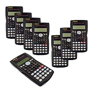 Renus - Calcolatrice scientifica a due righe per studenti e insegnanti 8 PCS