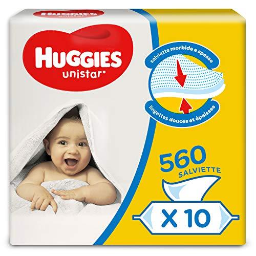 Huggies Unistar Salviette Umidificate Per Bambini, 10 Pacchi Da 56 Pezzi - 3060 Gr