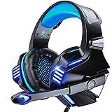 VersionTECH. Stereo Gaming Headset PS4 Headset, kabelgebundene PC Gamer Kopfhörer, Mikrofon mit Geräuschunterdrückung, LED Beleuchtung und Inline Steuerung für Xbox 1 S/X, Playstation 4, PC Mac