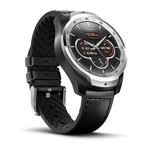 Ticwatch Pro - Reloj Inteligente Equipado con GPS, Bluetooth y Google Pay. Pantalla AMOLED y Sistema Operativo OS by Google. Color Plata
