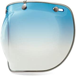 Bell 3-Snap Bubble Deluxe Shield, Ice Blue