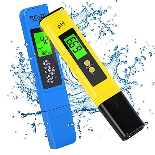 PH Water Tester Digital Kit, TDS PPM EC Meter, 2 Pack