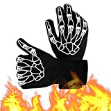 PTN Guantes de Barbacoa,Guantes de Cocina,Oven Gloves Resistencia TéRmica hasta 800°C,para Cocina,Microondas, Parrilla, Chimenea,Guantes Profesionales para Barbacoa con ProteccióN del Antebrazo