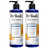 Dr Teal's Body Lotion - Softening Milk & Honey - 16 oz Pack of 2