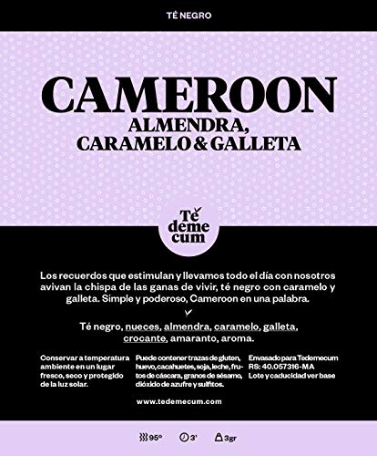 CAMEROON Gourmet 50gr. Schwarzer Tee, Nüsse, Mandeln, Karamell, Keks, knusprig, Amaranth, Aroma