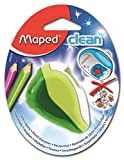 Maped - Taille-Crayons avec Réservoir - Système Propre qui ne Salit pas la Trousse - Taille-Crayons Clean 2 Trous - Coloris Vert