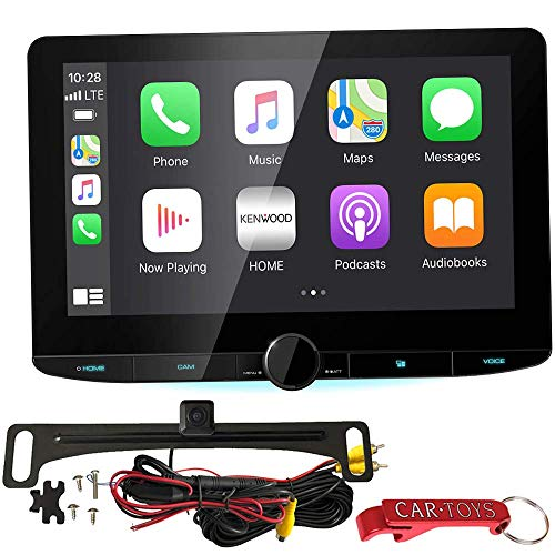 Kenwood DMX1037S Receiver Safe Driver's Bundle with HD Backup Camera. Extra Large 10.1' Digital Multimedia Stereo Receiver with Wireless Apple CarPlay and Android Auto, High-Res, SiriusXM Ready