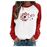 YAnGSale Valentine's Day Sweatshirt Women Love Gnome Print Shirt Long Sleeve Pullover Tops Print T-Shirt Outdoor Couple Blouse (B6, XXL)