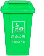 C-J-Xin Sanitation Dustbin, Park Thicken Plastic Recycling Bin Multiple Colour Hotel Commercial Refuse Bin Household Kitch...