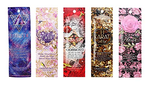 Designer Skin Tanning Lotion Packets, Assorted (5 Pack)