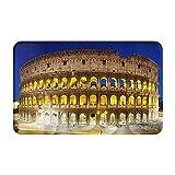 CONICIXI Felpudo Entrada Casa Rectangular El Coliseo de Noche Roma Italia Impermeable Antideslizante Lavable Alfombra para Interior y Exterior 50x80cm