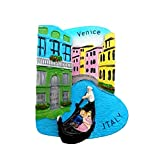 Imán para nevera en 3D de Venecia Italia, regalo para decoración del hogar y la cocina, imán magnético para nevera
