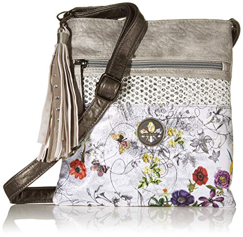 Rieker Damen Handtasche H1003, Mehrfarbig (silbergrau), 240x10x220 cm