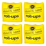 2 Pairs of Swim Rollup Floats Water Arm Rings Baby Arm Bands Floatation Sleeves for Outdoor Beach Swimming Pool ( Yellow )