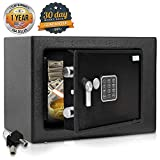 SereneLife Safe Box - Home Security Electronic Safe Lock Box with Mechanical Override