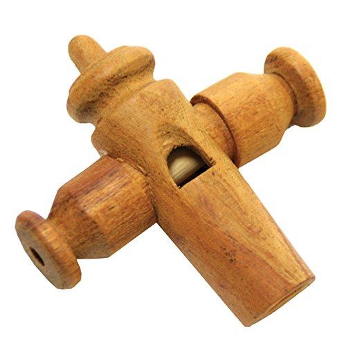 Sambapfeife aus Holz Trillerpfeife mit drei Löchern variierbar stabil klarer durchdringender Klang Samba Brasilien Percussion Weltmusik