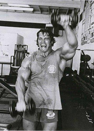Tomorrow sunny 24X36 INCH/Art Silk Poster/Arnold Schwarzenegger Bodybuilder Olympia Universe Conquer Classical Sport Poster Home Deco