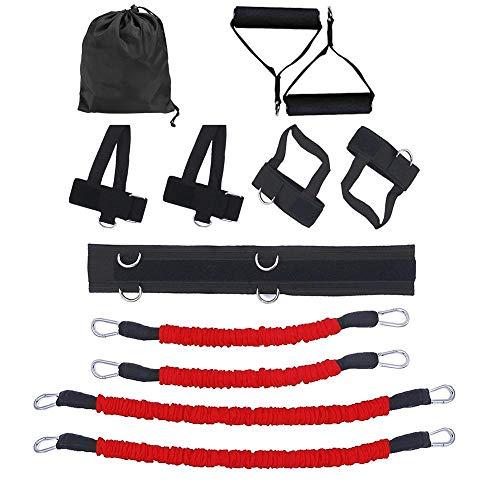 WNN - URG Sports Fitness - Juego de bandas de resistencia para piernas y brazos, entrenamiento de entrenamiento de fuerza de salto URG (color: A)