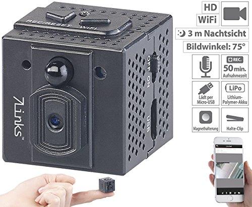 7links Mini Überwachungskamera: HD-Micro-IP-Überwachungskamera mit WLAN, Nachtsicht & App-Zugriff (HD Mini Cam App)