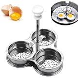 Poached Egg Pan, Egg Poacher, Egg Boiler Cooker, Poached Egg Cups Stainless Steel Non-Stick for Steaming Eggs and Boiling Eggs