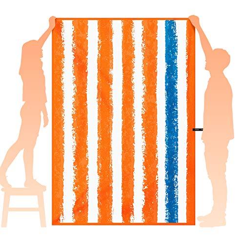 OCOOPA Telo Mare in Microfibra ad Asciugatura Rapida, Large 180x85cm, Extra Large 210x145cm, Asciugamano da Spiaggia ,Super Assorbente, Antisabbia, Spiaggia e Nuoto, per Uomini e Donne