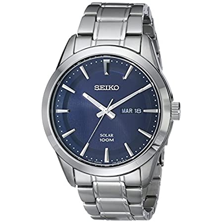 Fashion Shopping Seiko Men's SNE361 Analog Display Japanese Quartz Silver Watch