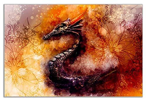 tzxdbh Prepárese para Las Fotos en la Camilla Fuego Dragón Pop Art Pinturas, murales, Cuadros Decorativos-decoración. Lámina Music Star