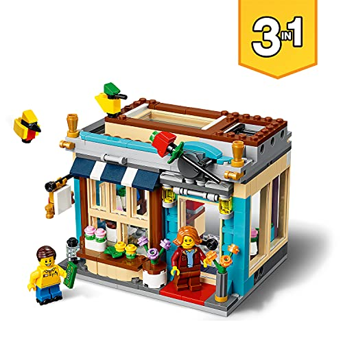LEGOCreator3In1NegozioDiGiocattoli-Pasticceria-Fioraio,ConRazzo-GiostraFunzionante,SetDiCostruzioni & City Great Vehicles Furgone Dei Gelati Con Cliente Su Skateboard E Cane