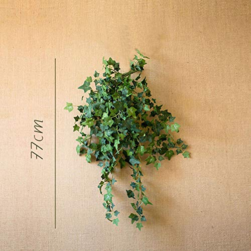 Simulation Of Green Ivy,Simulation Beautiful Hanging Plant Floral Suitable For Venue Layout Interior And Exterior Decoration Wedding Scene Etc.-D medium deep western vine