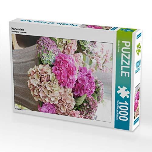 CALVENDO Puzzle Hortensien 1000 Teile Lege-Größe 48 x 64 cm Foto-Puzzle Bild von Gisela Kruse