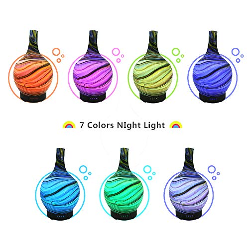 100ML-Aroma-Essential-Oil-Diffuser-Glass-Vase-Pattern-Cool-Mist-Humidifier-4-Time-Setting-7-Clour-LED-Light-Auto-Waterless-Shut-Off-for-Home-Office-Spa-Yoga