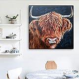 KWzEQ Poster Drucken Highland Cattle Wandkunst Poster und