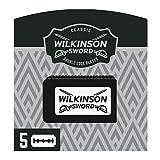Wilkinson Sword Classic PREMIUM - Recambios de 5 Hojas de Cuchillas de Afeitar para Hombres, Afeitado Cl谩sico Masculino, Doble Filo