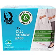 Plant Based - Hippo Sak Tall Kitchen Bags with Handles, 13 Gallon